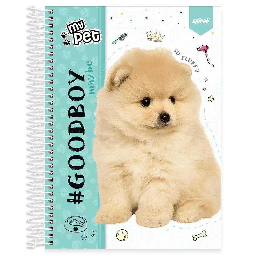 Caderno universitário capa dura 10x1 160 folhas My Pet Lulu 211895 Spiral PT 1 UN
