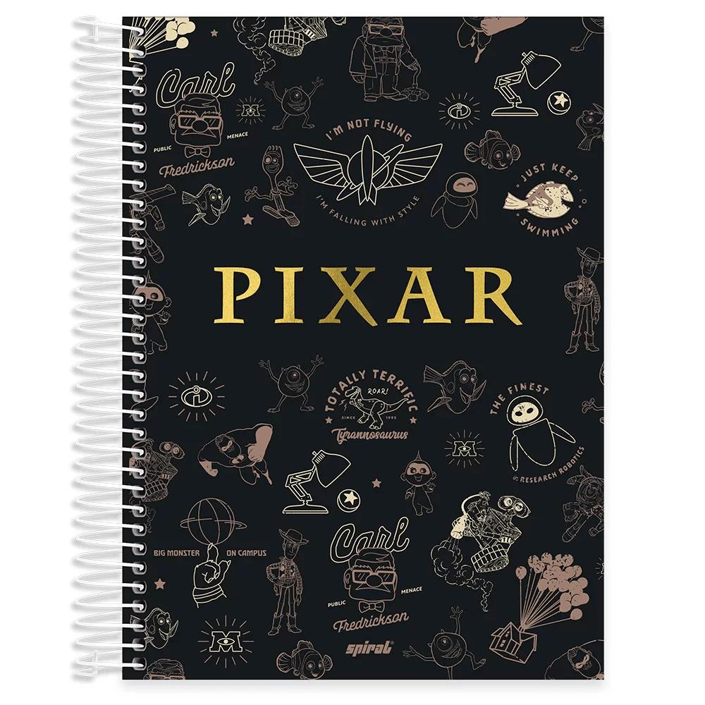 Caderno universitário capa dura 10x1 160 folhas Pixar 211805 Spiral PT 1 UN