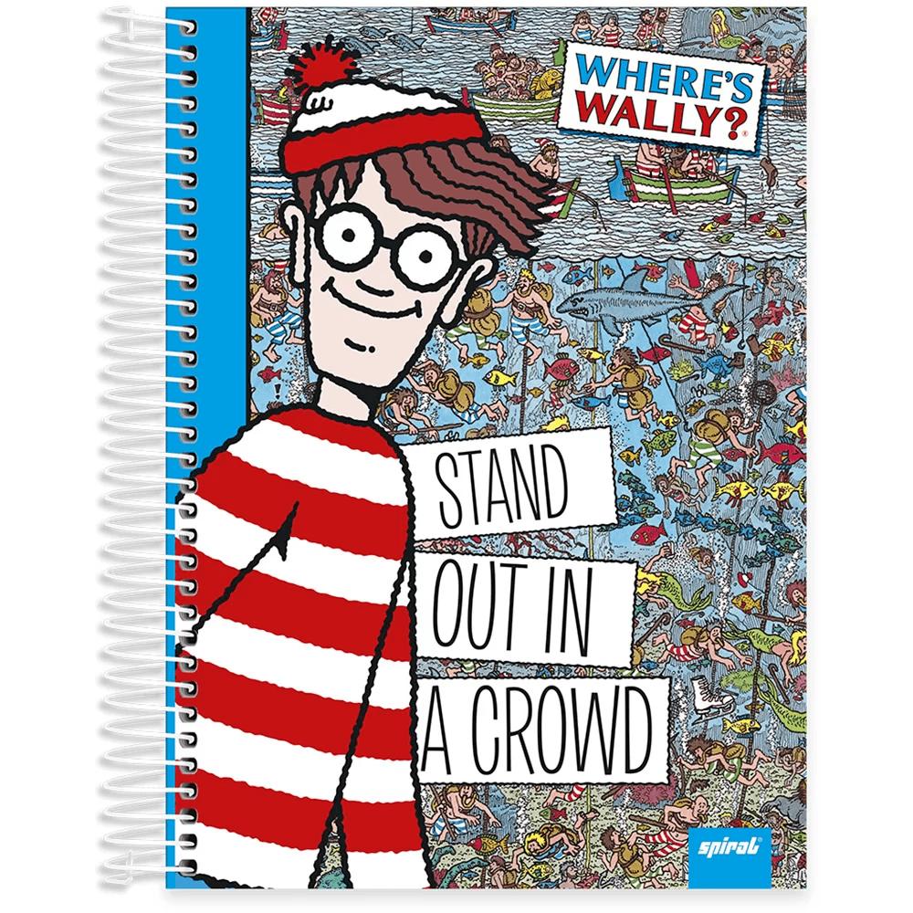 Caderno universitário capa dura 10x1 160 folhas Wally 211934 Spiral PT 1 UN