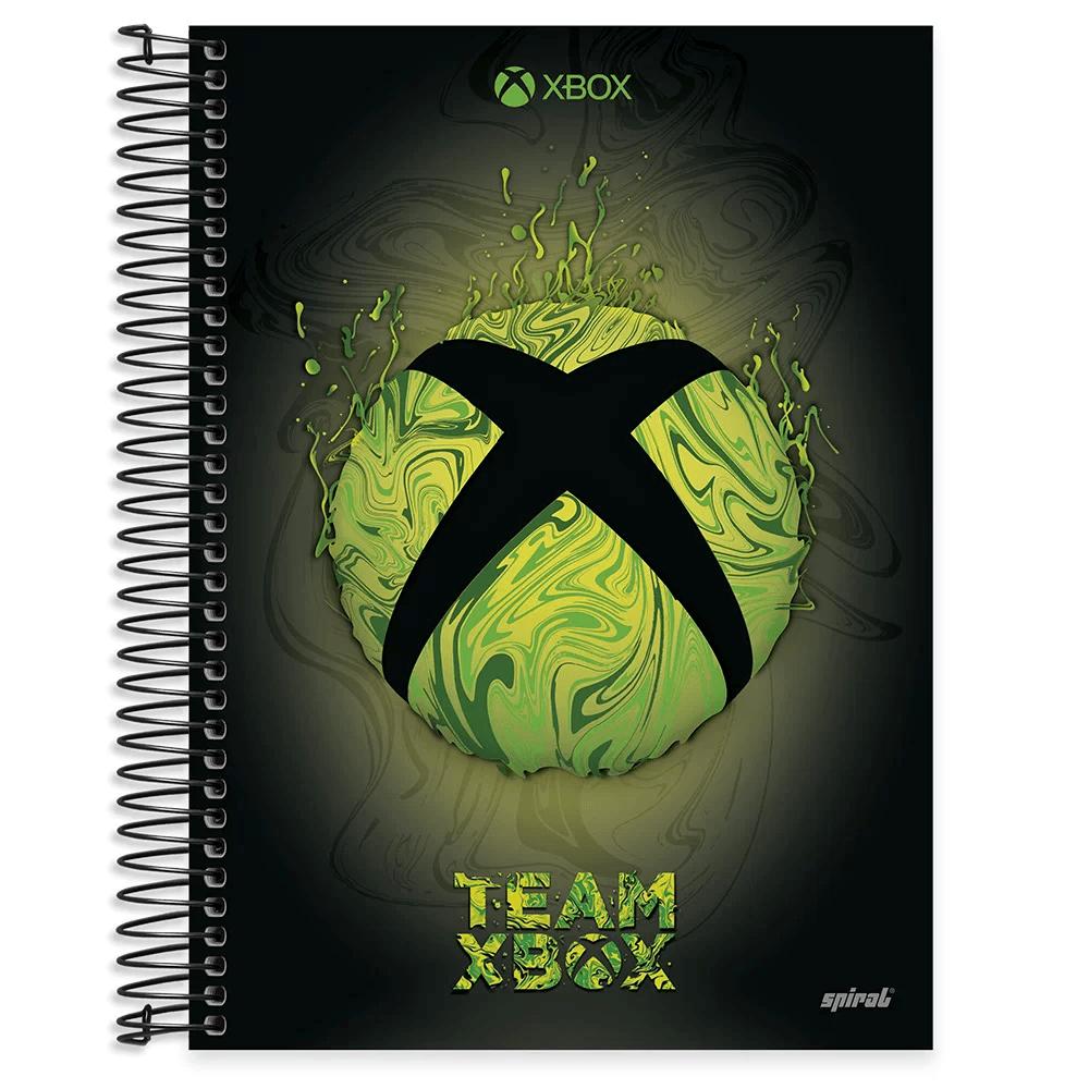 Caderno universitário capa dura 10x1 160 folhas XBox 211935 Spiral PT 1 UN