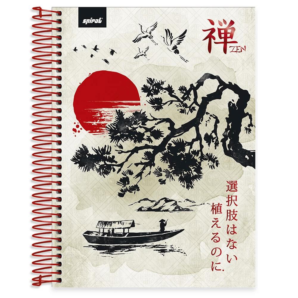 Caderno universitário capa dura 10x1 160 folhas Zen 211938 Spiral CX 1 UN