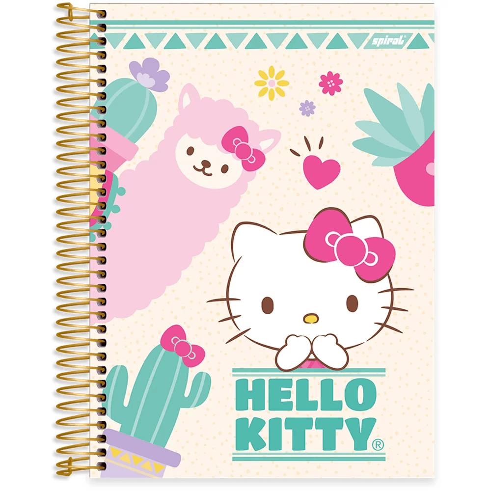 Caderno Universitário Capa Dura 10x1 200fl Hello Kitty 20463 Spiral Hki PT 1 UN