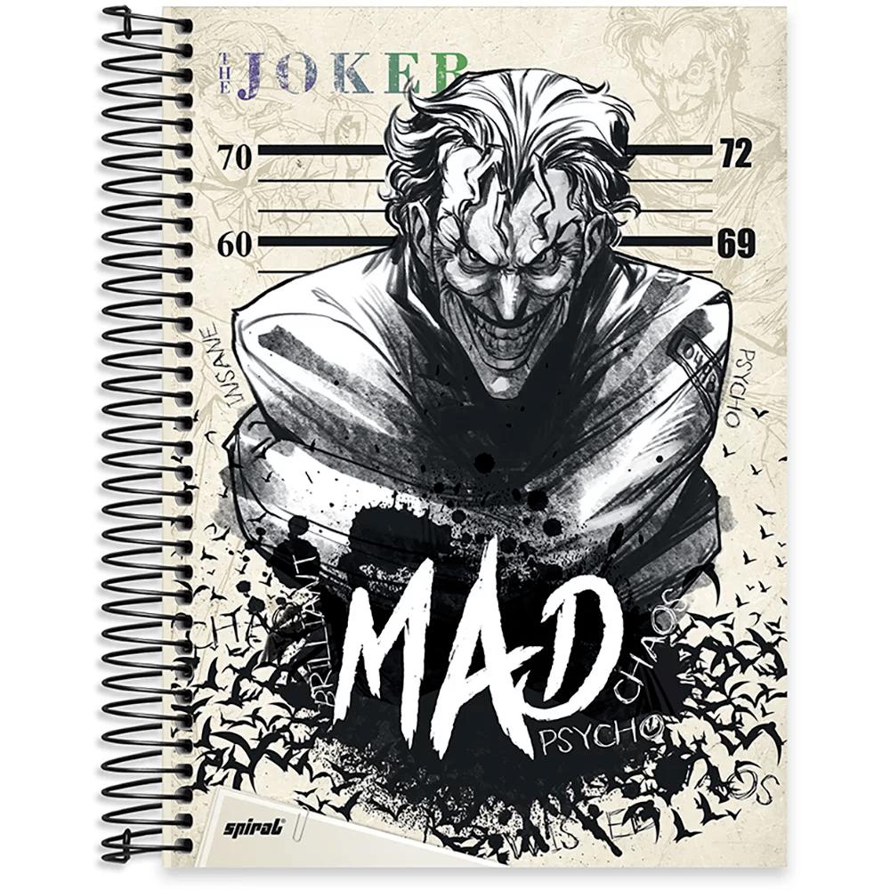 Caderno Universitário Capa Dura 10x1 200fl Joker 20471 Spiral Jok PT 1 UN