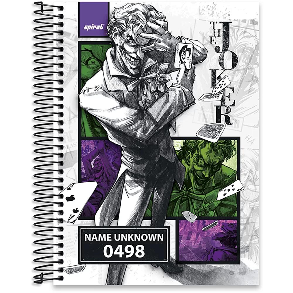 Caderno Universitário Capa Dura 10x1 200fl Joker 20472 Spiral Jok PT 1 UN