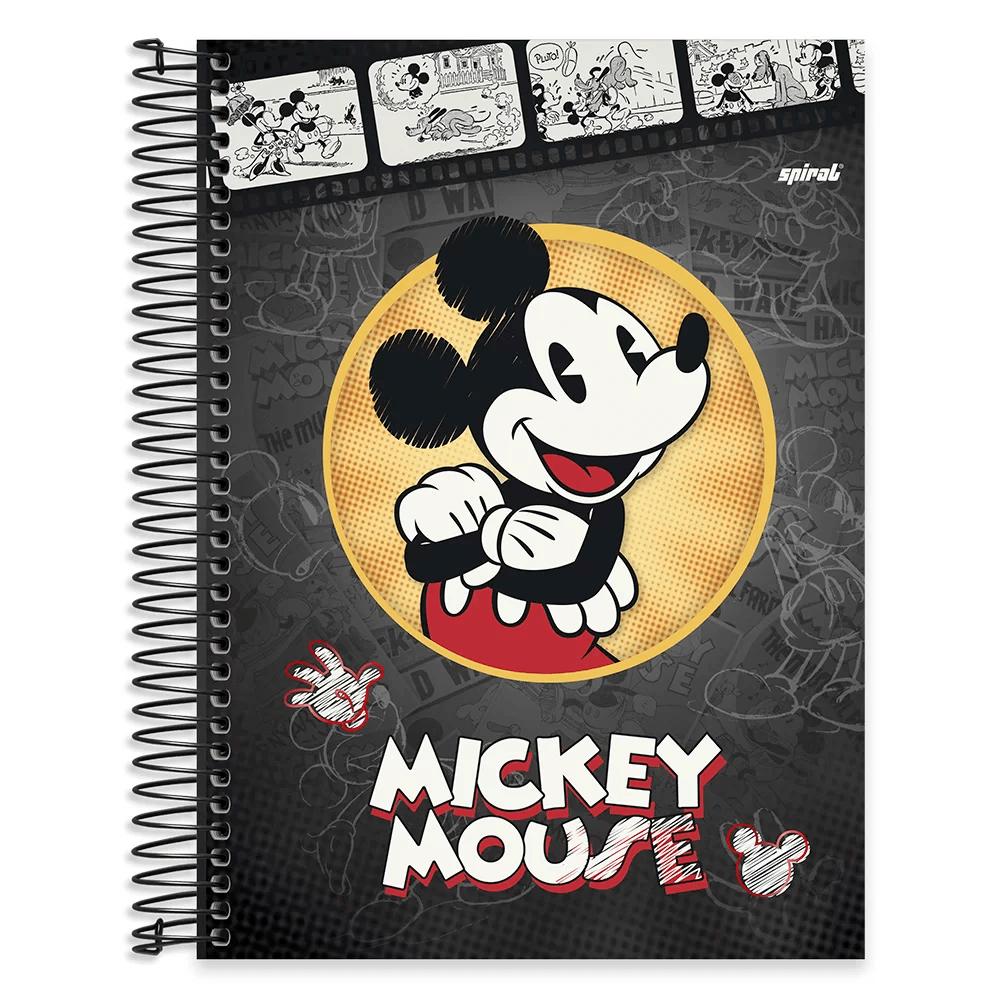 Caderno Universitário Capa Dura 10x1 200fl Mickey&Minnie 20433 Spiral Dm PT 1 UN