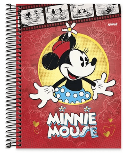 Caderno Universitário Capa Dura 10x1 200fl Mickey&Minnie 20434 Spiral Dm PT 1 UN