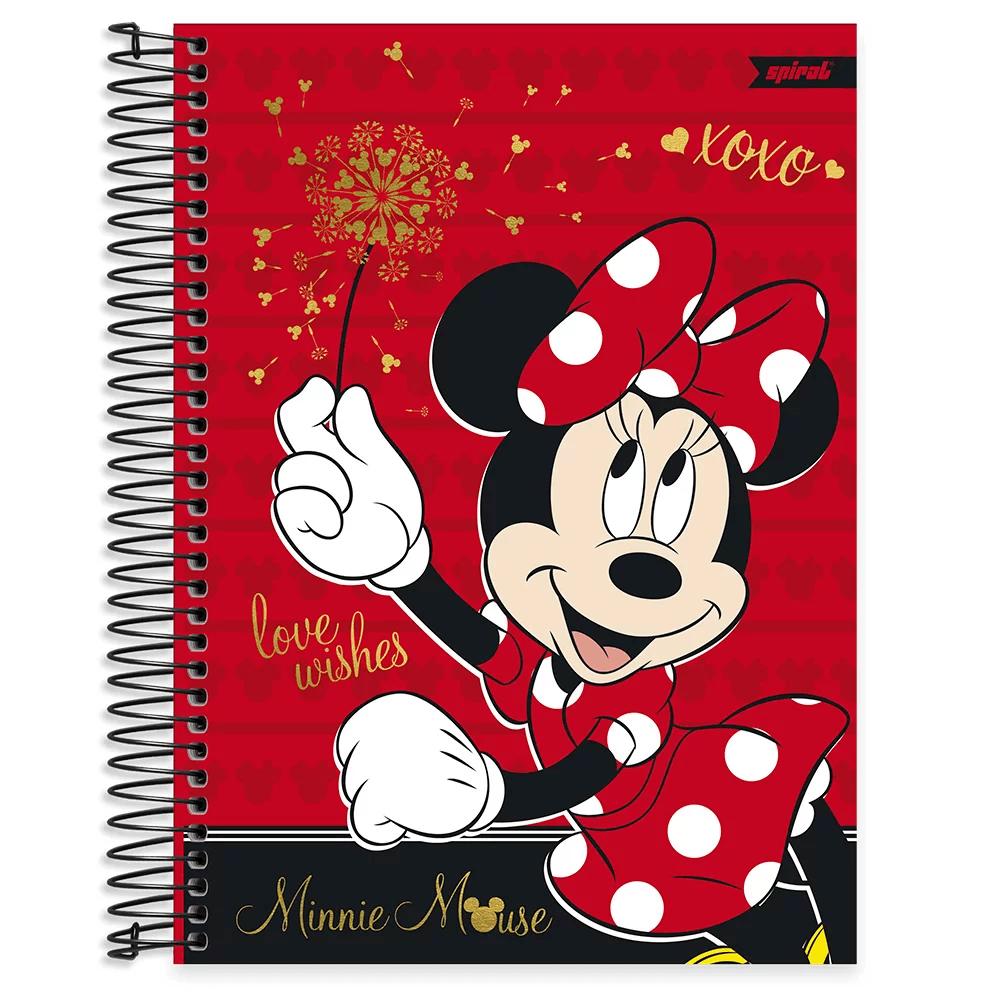 Caderno universitário capa dura 15x1 240 folhas Disney Minnie Clássico 212075 Spiral PT 1 UN