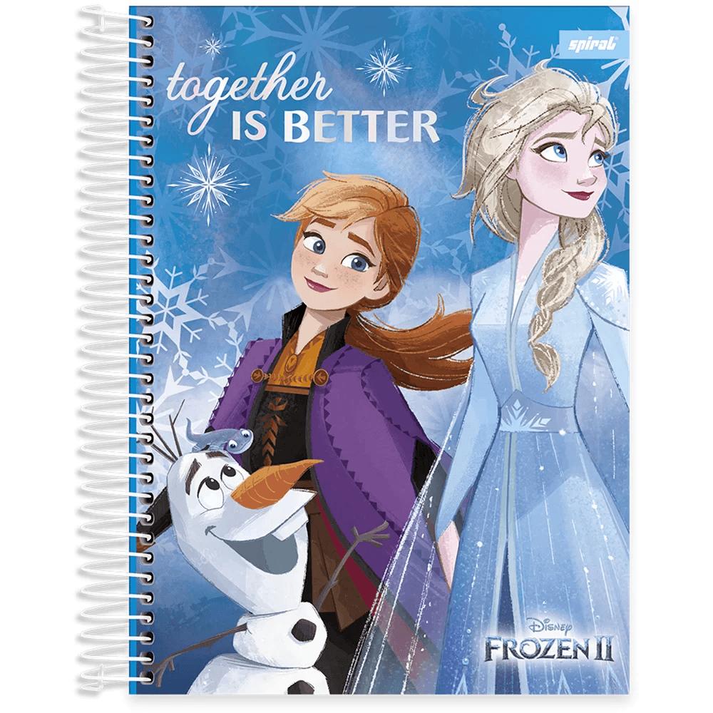 Caderno universitário capa dura 15x1 240 folhas Frozen 212071 Spiral PT 1 UN