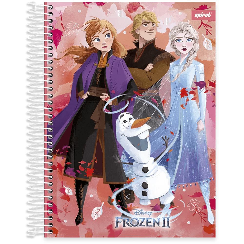 Caderno universitário capa dura 15x1 240 folhas Frozen 212076 Spiral PT 1 UN