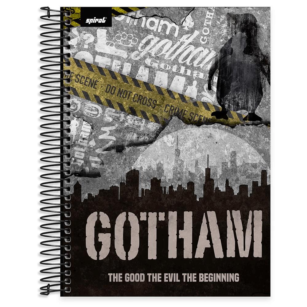 Caderno universitário capa dura 15x1 240 folhas Gotham Pinguim 211996 Spiral PT 1 UN