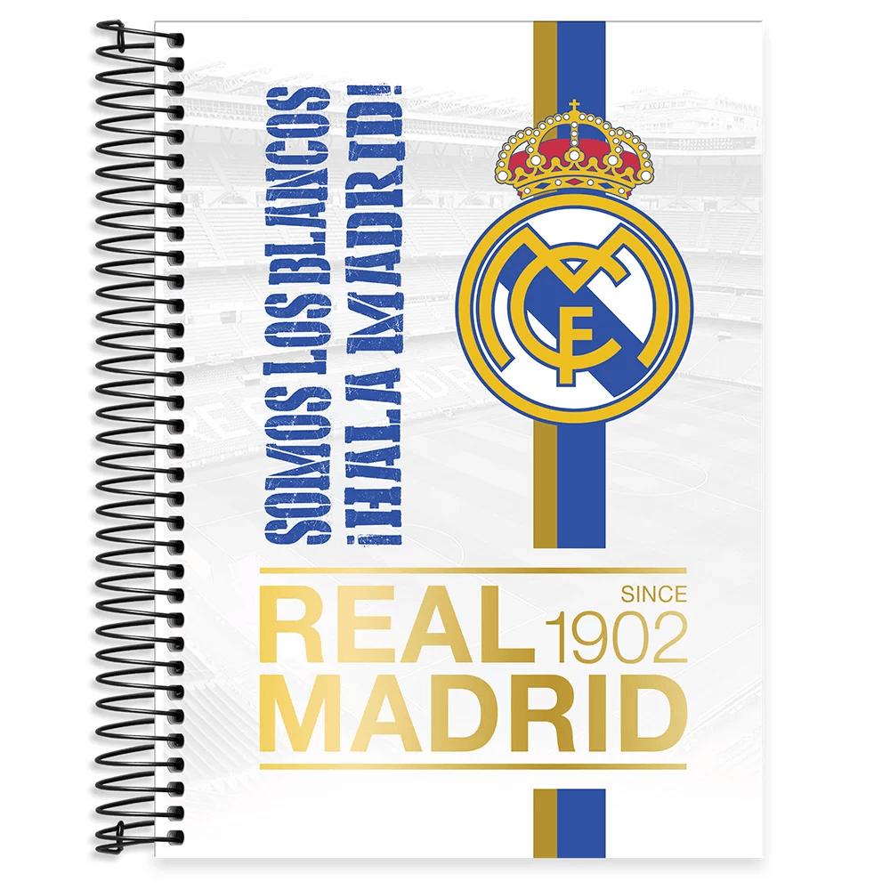 Caderno universitário capa dura 15x1 240 folhas Real Madrid 212037 Spiral PT 1 UN