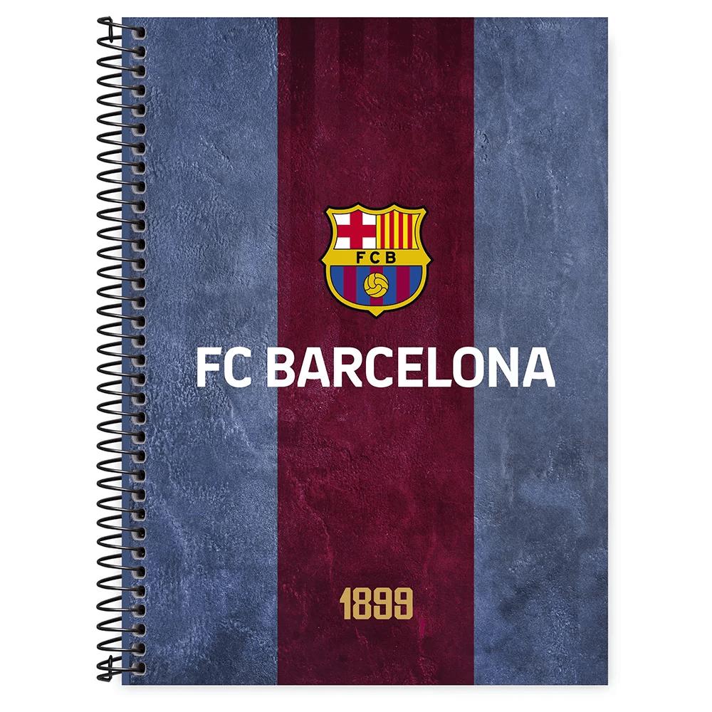 Caderno universitário capa dura 1x1 80 folhas Barcelona 211541 Spiral PT 1 UN