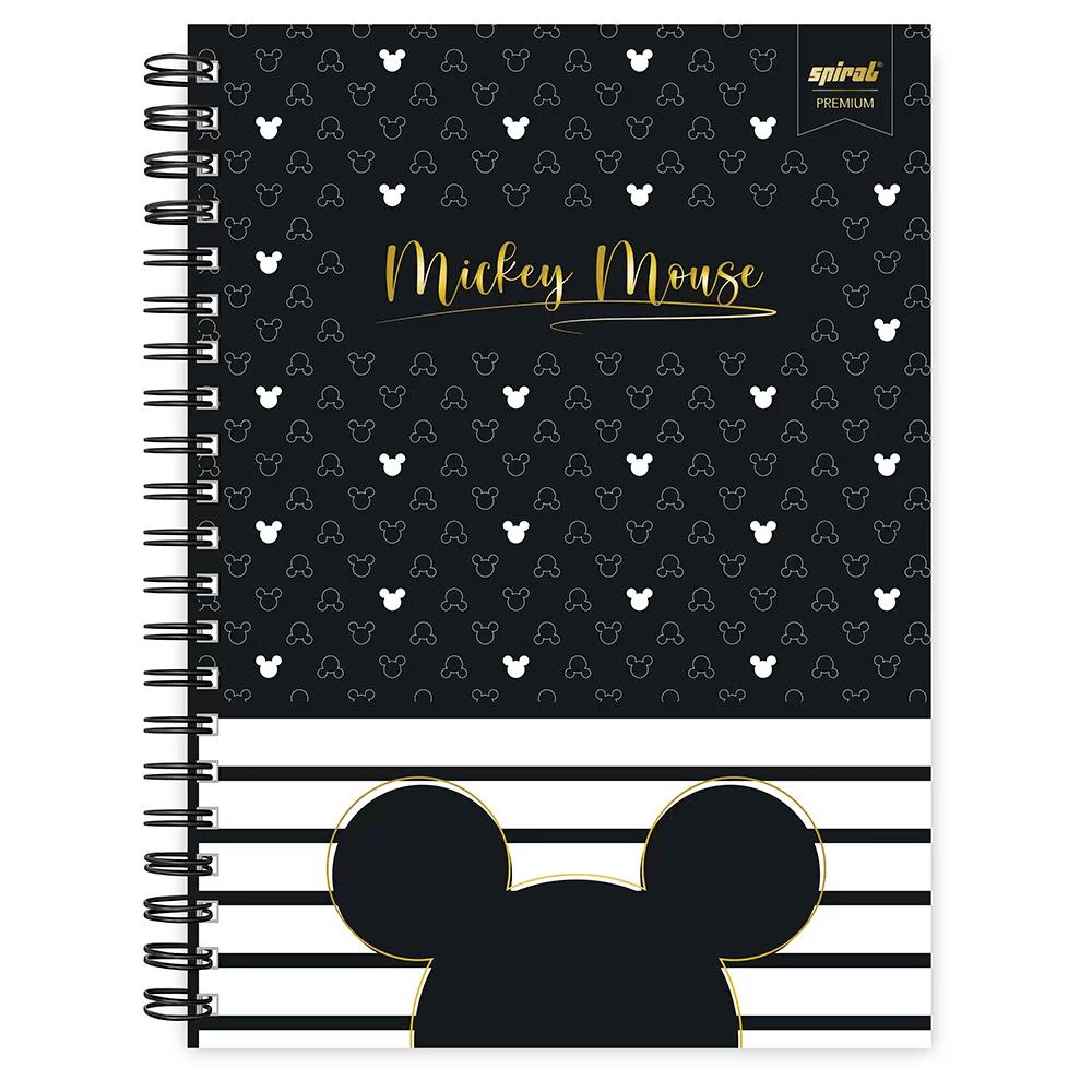 Caderno universitário capa dura 1x1 80 folhas Disney Mickey PB 211553 Spiral PT 1 UN