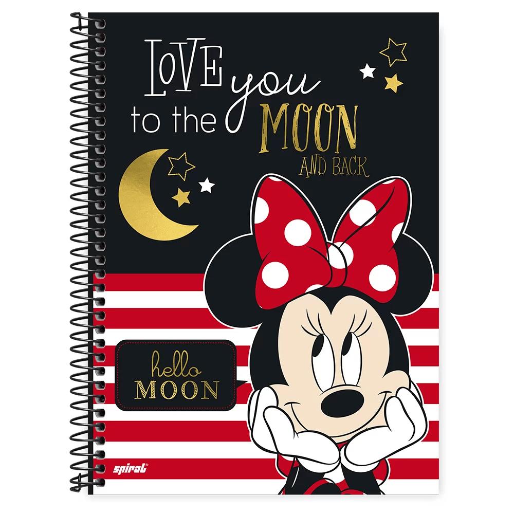 Caderno universitário capa dura 1x1 80 folhas Disney Minnie Clássico 211552 Spiral PT 1 UN