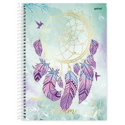 Caderno universitário capa dura 1x1 80 folhas Dreams 211566 Spiral
