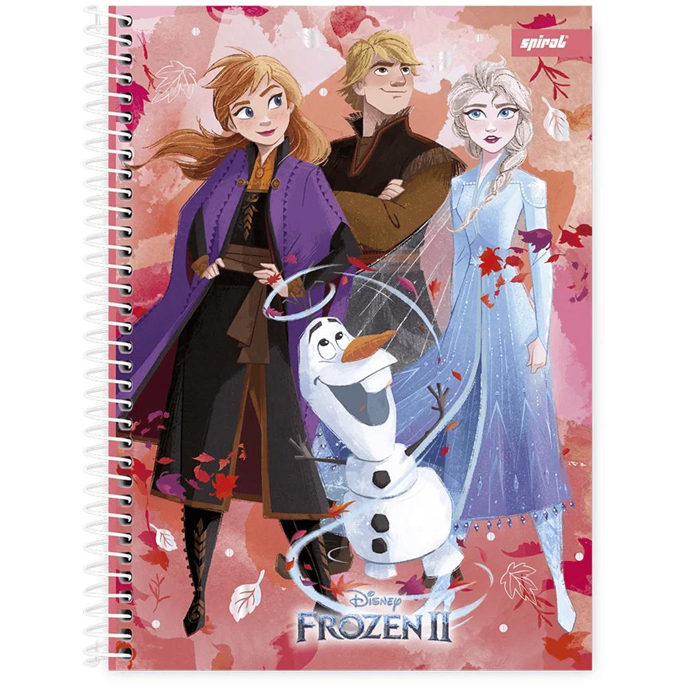 Caderno universitário capa dura 1x1 80 folhas Frozen 211690 Spiral PT 1 UN