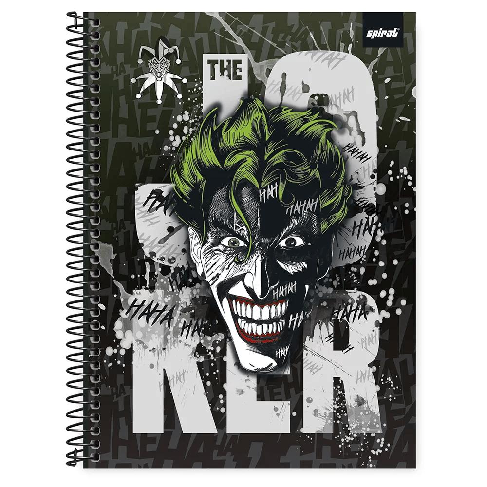Caderno universitário capa dura 1x1 80 folhas Joker 211596 Spiral PT 1 UN