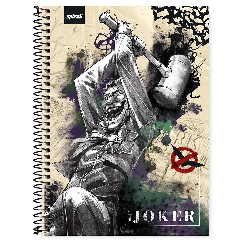 Caderno universitário capa dura 1x1 80 folhas Joker 211597 Spiral PT 1 UN