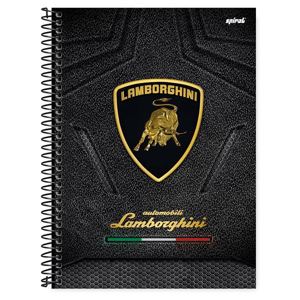 Caderno universitário capa dura 1x1 80 folhas Lamborghini 211598 Spiral PT 1 UN