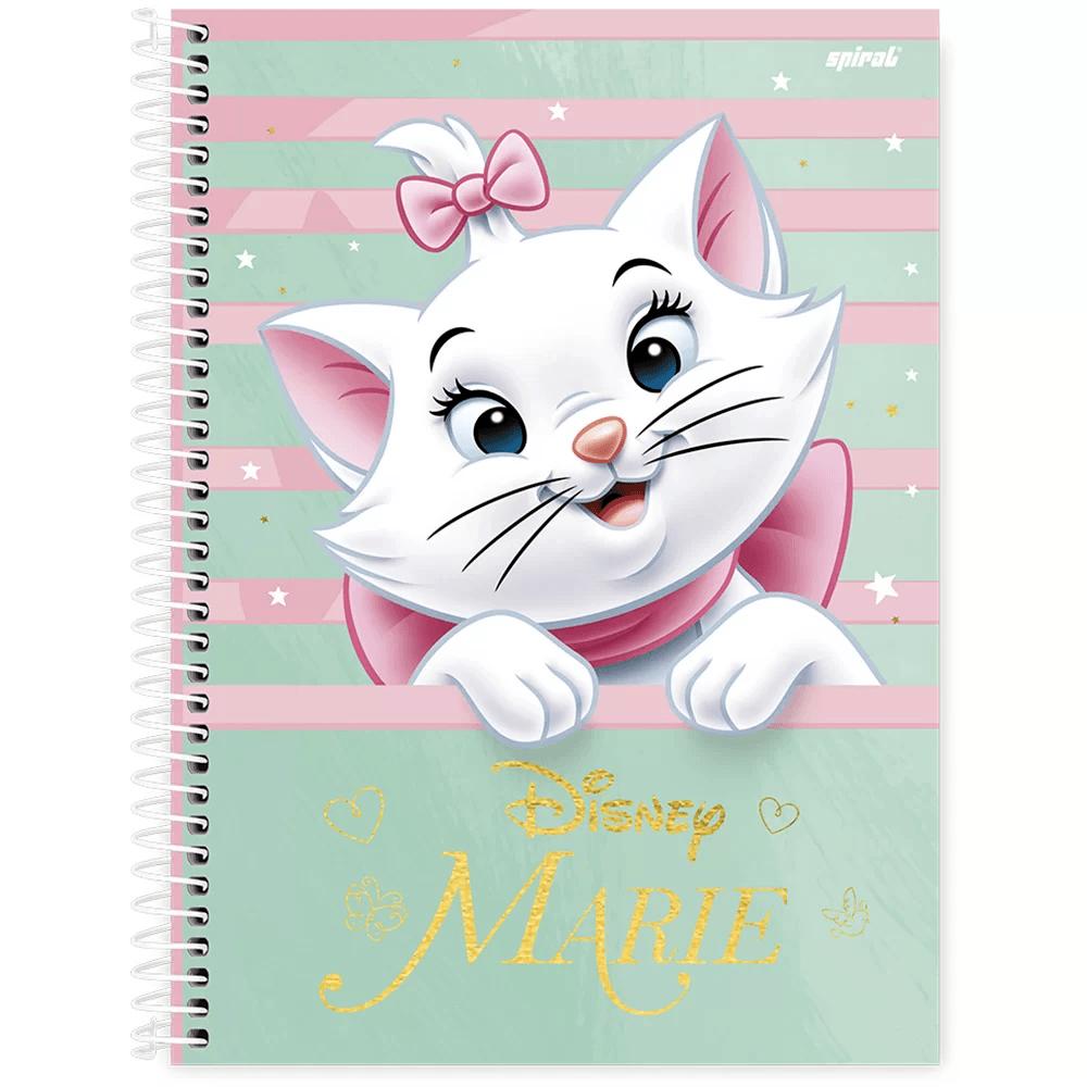 Caderno universitário capa dura 1x1 80 folhas Marie 211711 Spiral PT 1 UN