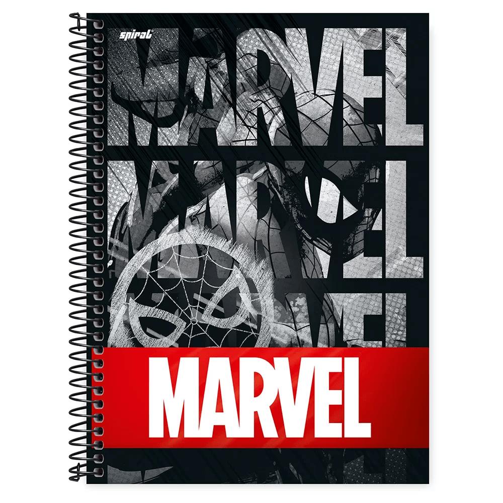 Caderno universitário capa dura 1x1 80 folhas Marvel Red Brick Homem Aranha 211616 Spiral PT 1 UN