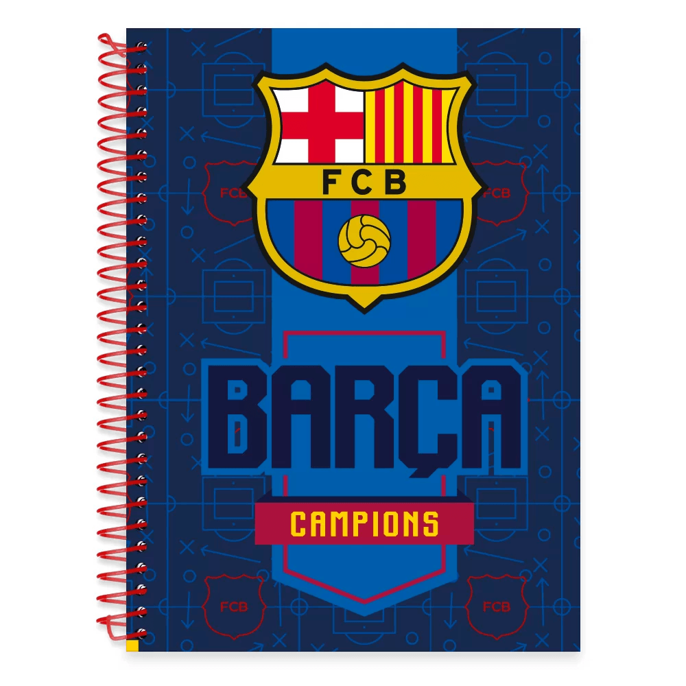 Caderno Universitário Capa Dura 1x1 96 fls Barcelona 19099 Spiral Bc PT 1 UN