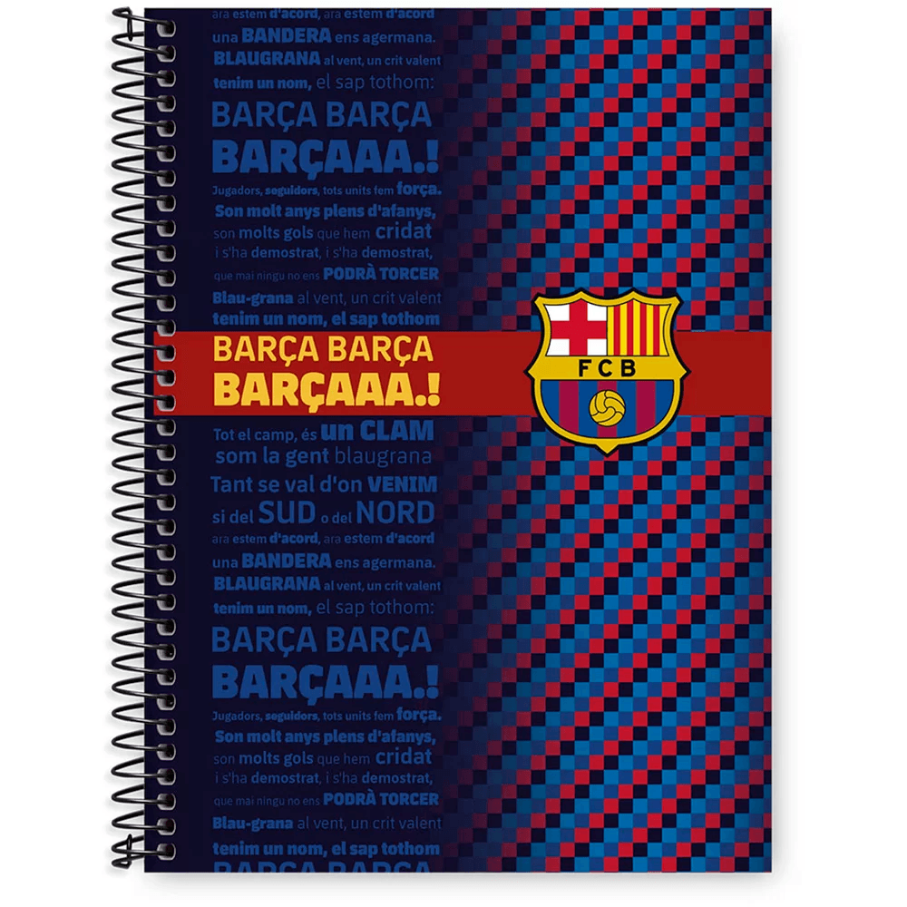 Caderno Universitário Capa Dura 1x1 96 fls Barcelona 20249 Spiral Bc PT 1 UN