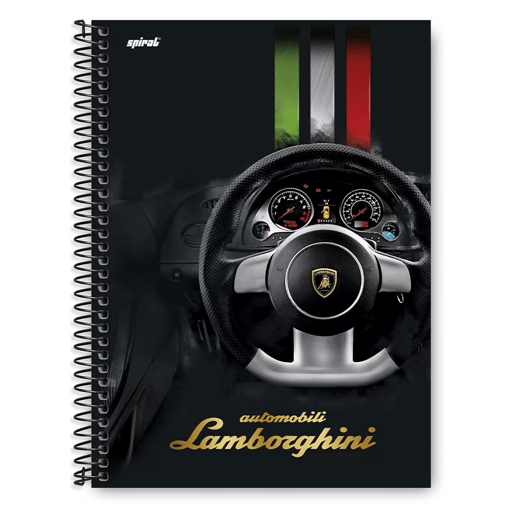 Caderno Universitário Capa Dura 1x1 96 fls Lamborghini 20296 Spiral Lb PT 1 UN