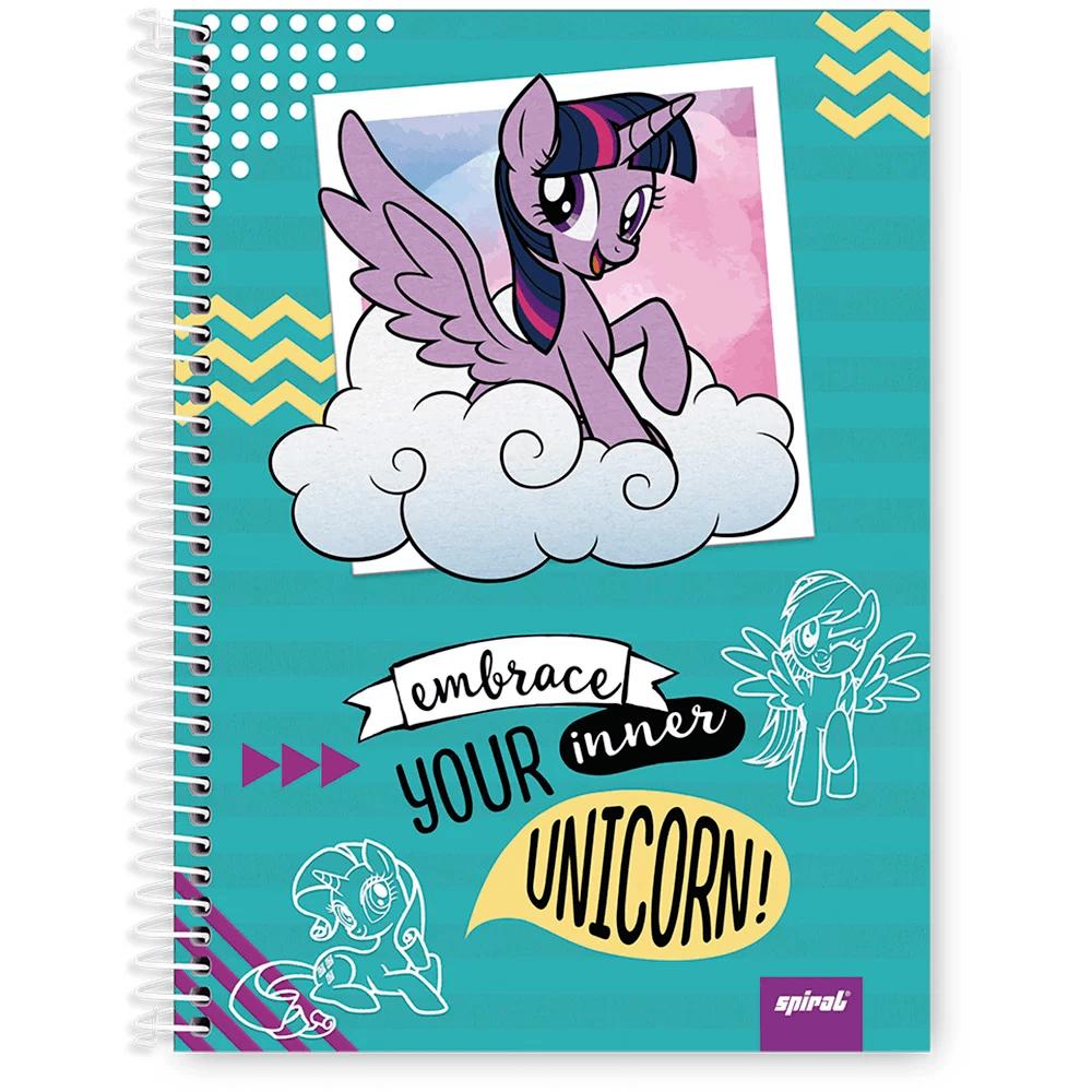 Caderno Universitário Capa Dura 1x1 96 fls Little Pony 20322 Spiral Ltp PT 1 UN