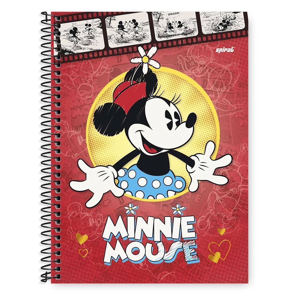 Caderno Universitário Capa Dura 1x1 96 fls Mickey Minnie 20256 Spiral Dm PT 1 UN