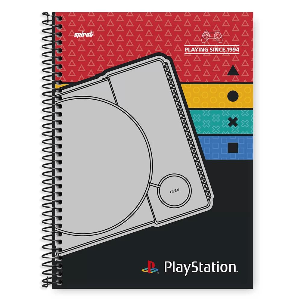 Caderno Universitário Capa Dura 1x1 96 fls Playstation 20331 Spiral Ps PT 1 UN
