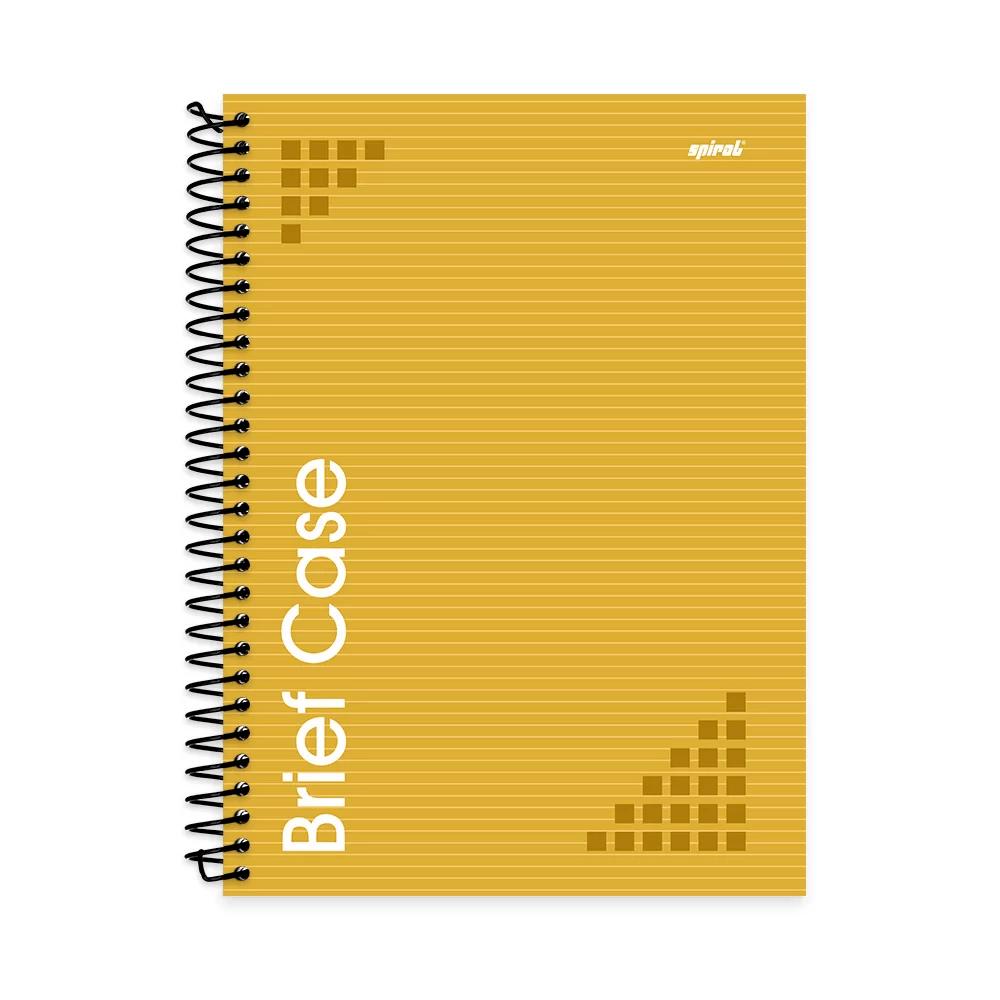Caderno universitário capa dura 1x1 96 folhas Brief Case Amarelo Spiral PT 1 UN