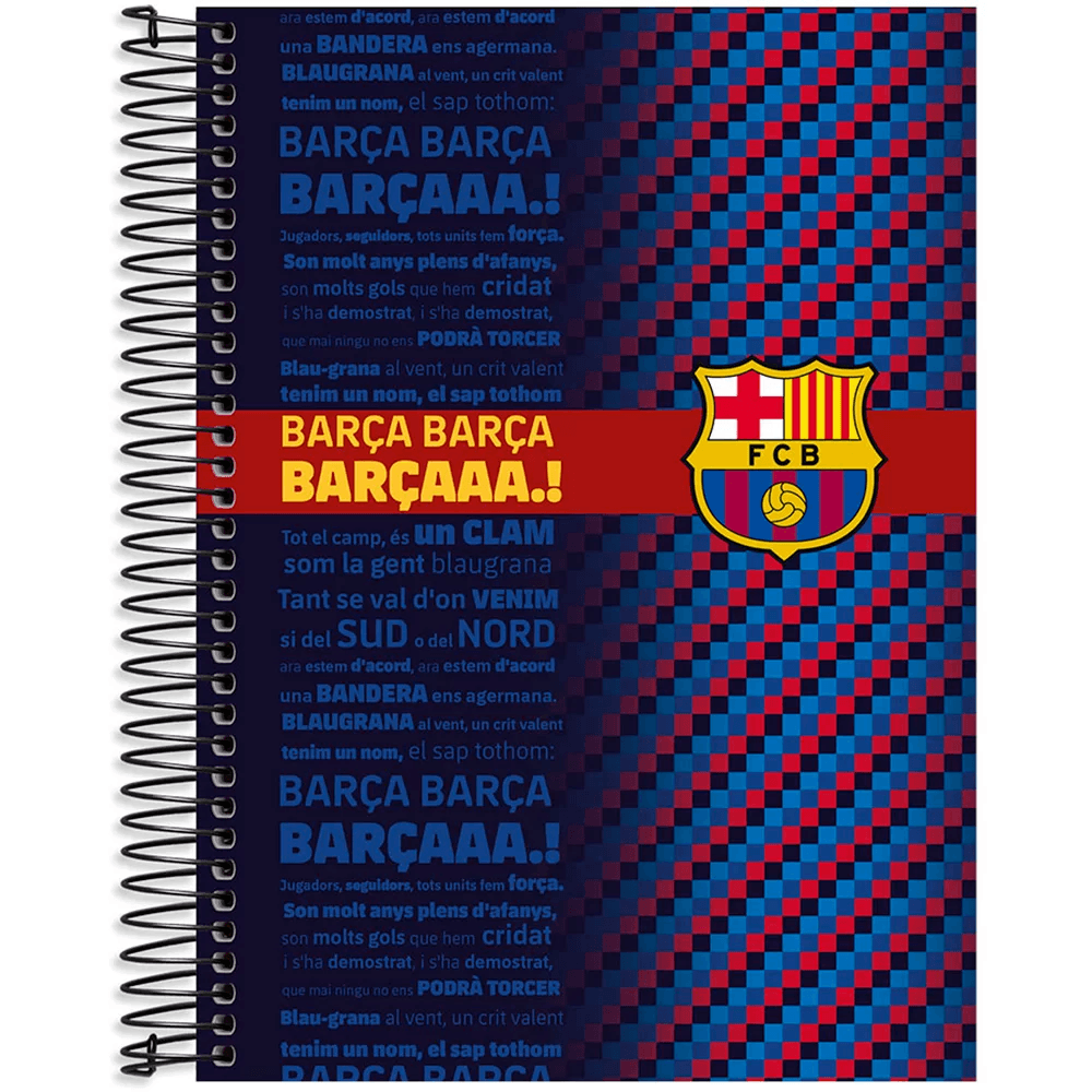 Caderno Universitário capa dura 20x1 400fl Barcelona 20638 Spiral Bc PT 1 UN