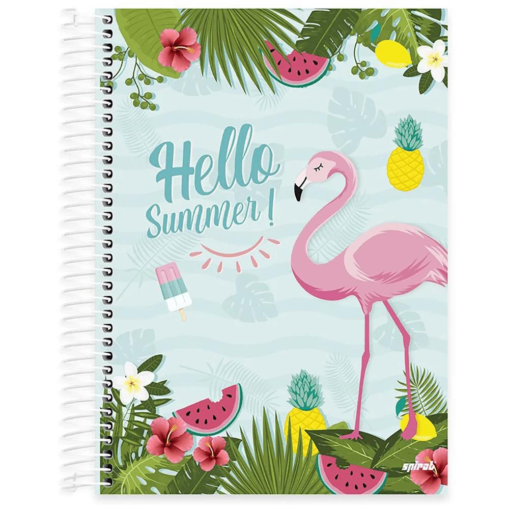 Caderno Universitário capa dura 20x1 400fl Flamingo 20692 Spiral Ten PT 1 UN
