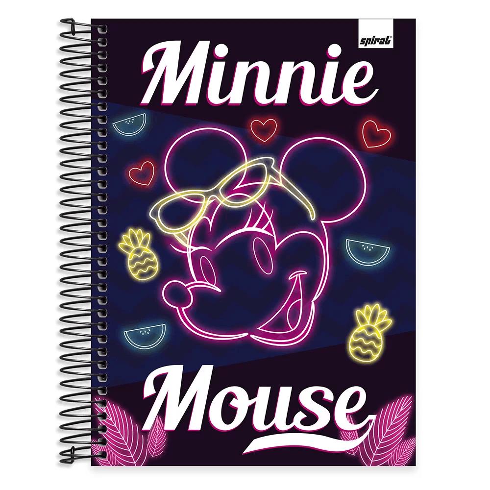 Caderno Universitário capa dura 20x1 400fl Minnie Tendência 20707 Spiral Mte PT 1 UM PT 1 UN