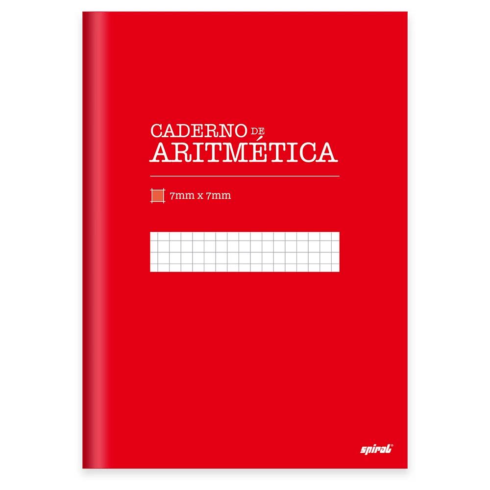Caderno Universitário Capa Dura costurado 96fl aritmética 19958 Spiral UN 1 UN