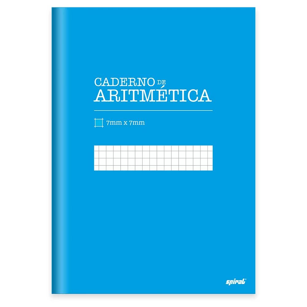 Caderno Universitário Capa Dura costurado 96fl aritmética 19959 Spiral PT 1 UN