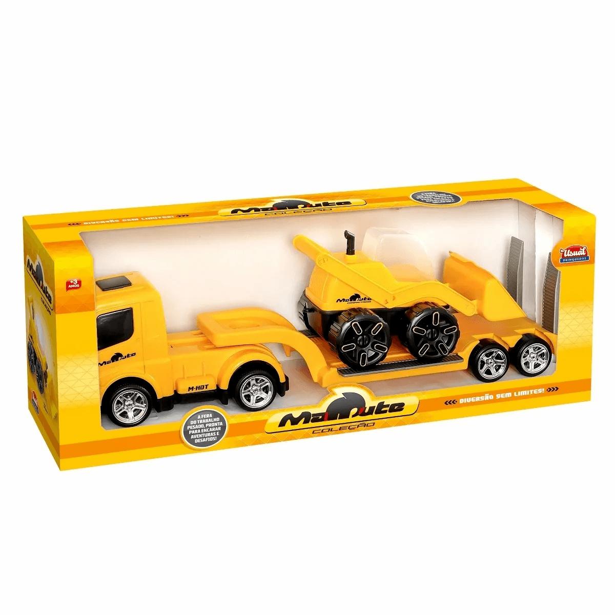 Caminhão Carrinho Mamute Prancha C/ Carregadeira 294 - Usual
