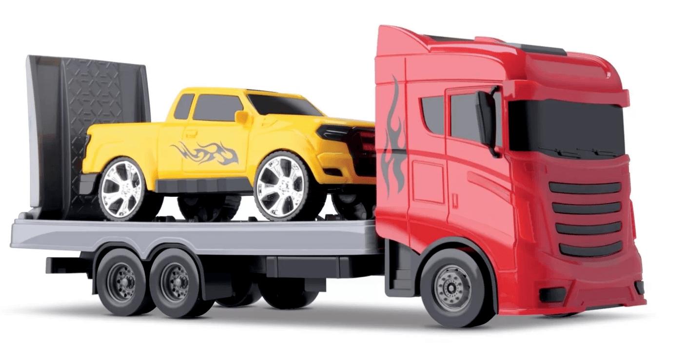 Caminhão Reboque Truck Articulado Com Carrinho