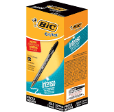 Caneta Esferográfica BIC Cristal Intenso, Preto, Ponta Grossa Bold, 1.6mm, 25 unidades