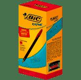 Caneta Esferográfica BIC Cristal Intenso, Vermelho, Ponta Grossa, Bold, 1.6mm, 25 unidades