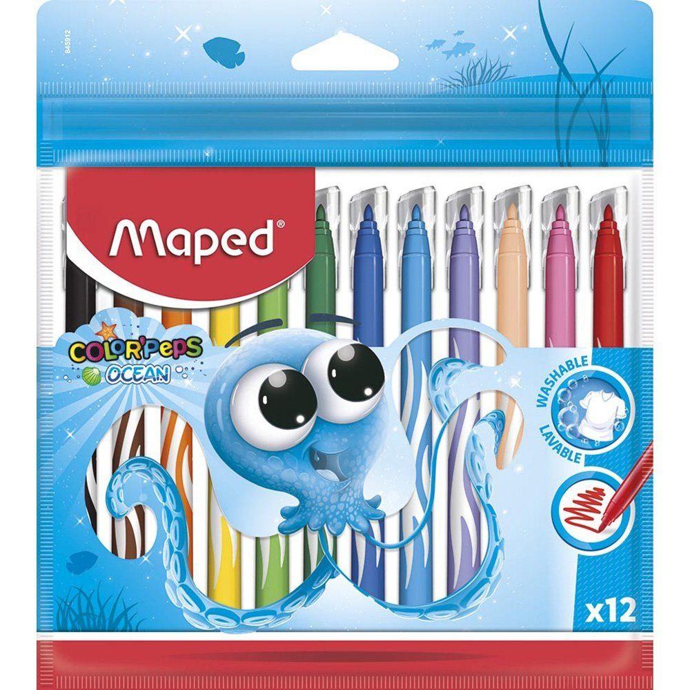 Caneta hidrográfica 12 cores Ocean Polvo 845912 Maped