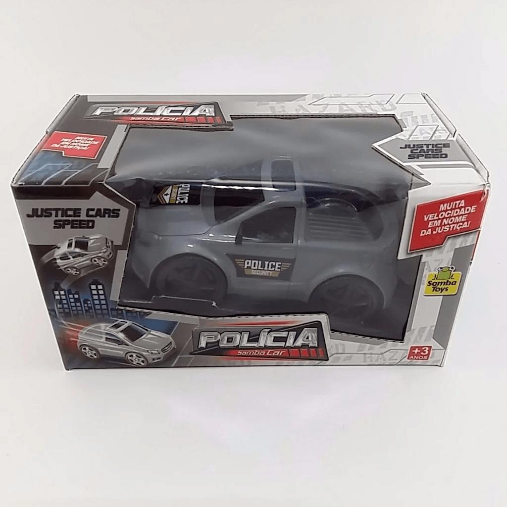 Carrinho De Policia Samba Car Brinquedo