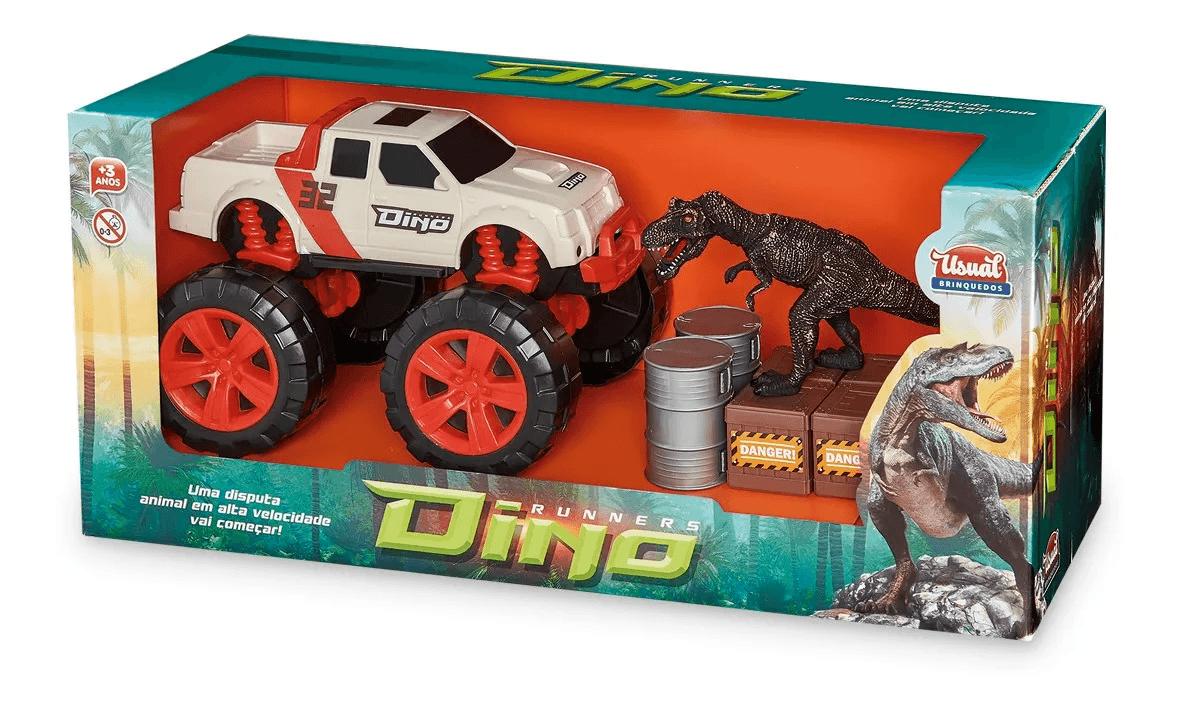 Carrinho Pick-Up e Set Dino Runners - Usual Brinquedos