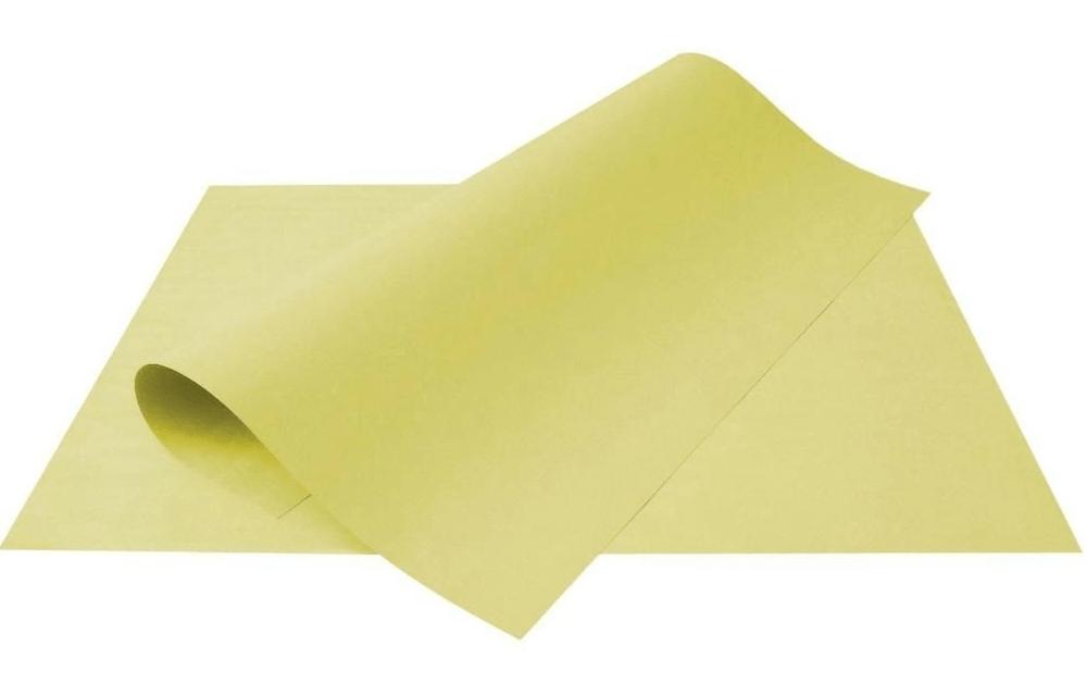 Papel Cartolina Escolar Amarela 150g 50x66 cm Unitário