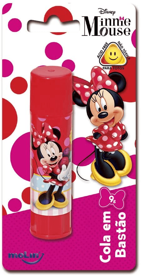 Cola bastão 9g - Minnie - Molin - 1 UN