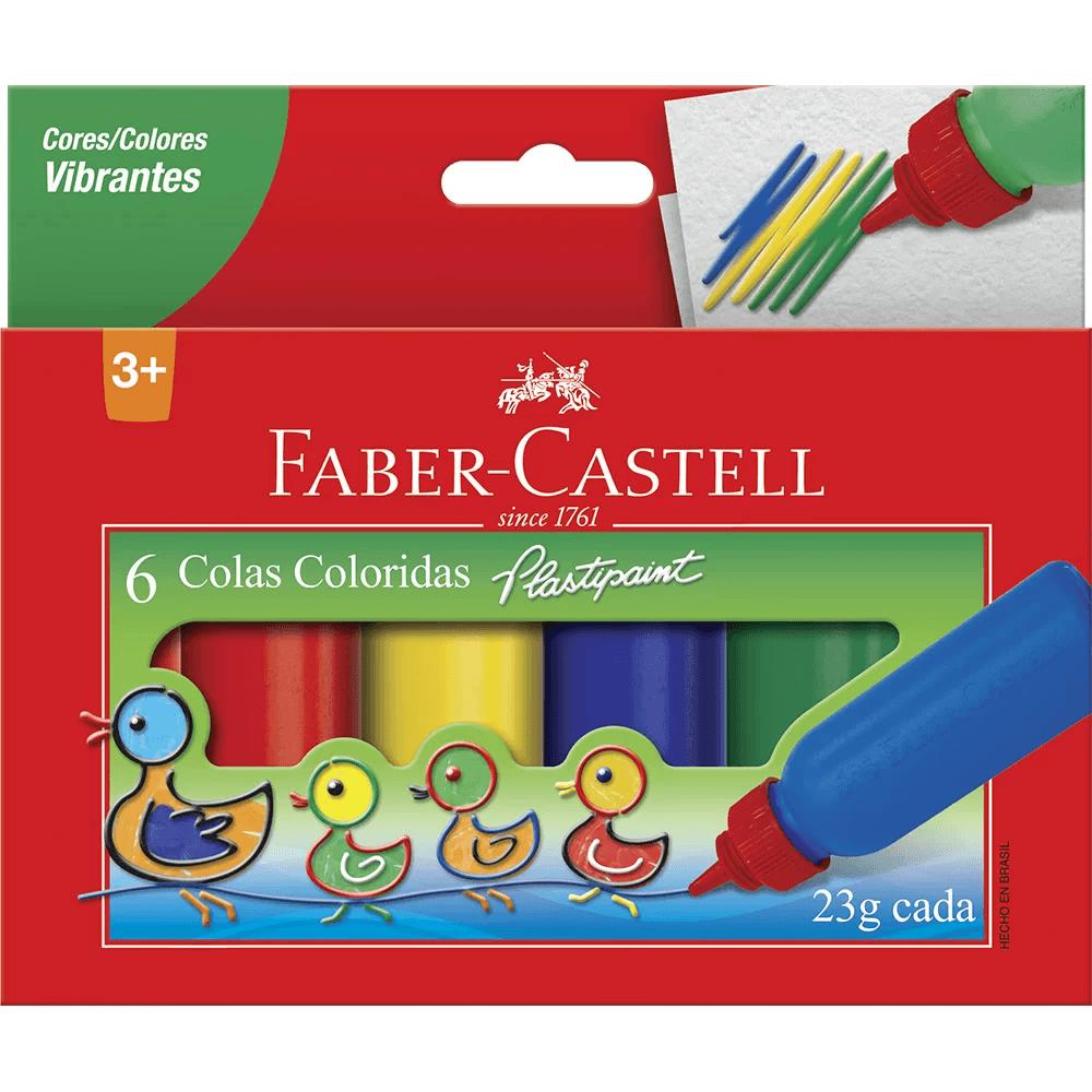 Cola colorida 23g c/6 cores HT170106 Faber Castell CX 1 UN