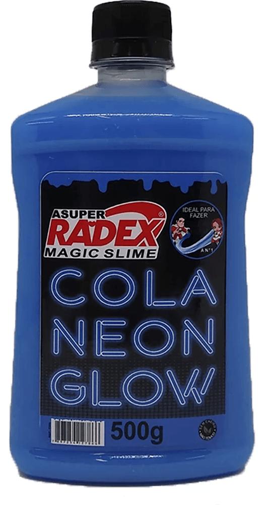 Cola para Slime 500g Glow neon azul 7306 Radex CX 1 UN