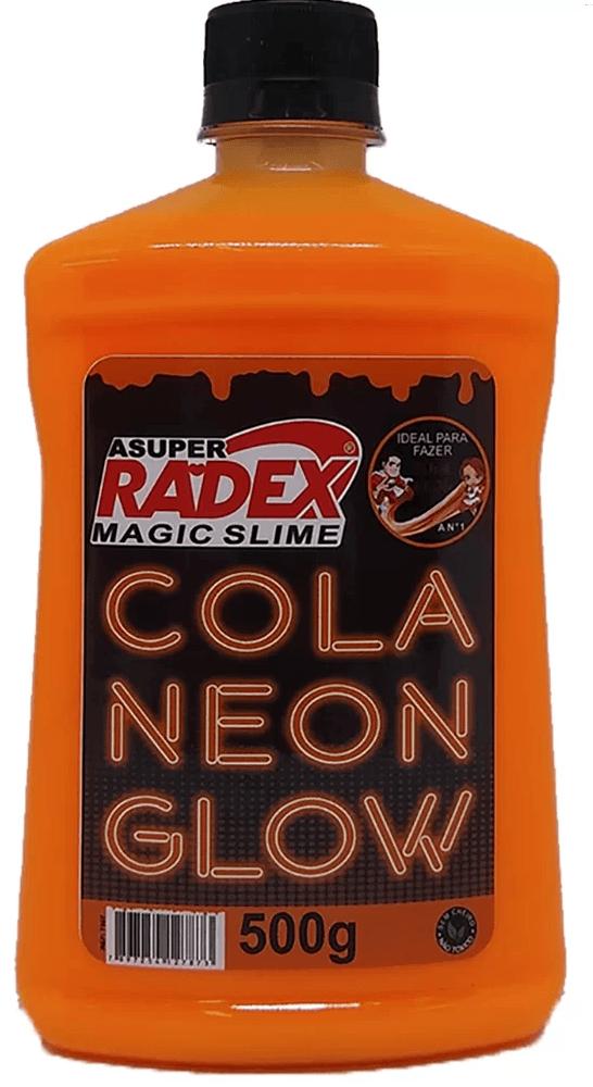 Cola para Slime 500g Glow neon laranja 7307 Radex CX 1 UN