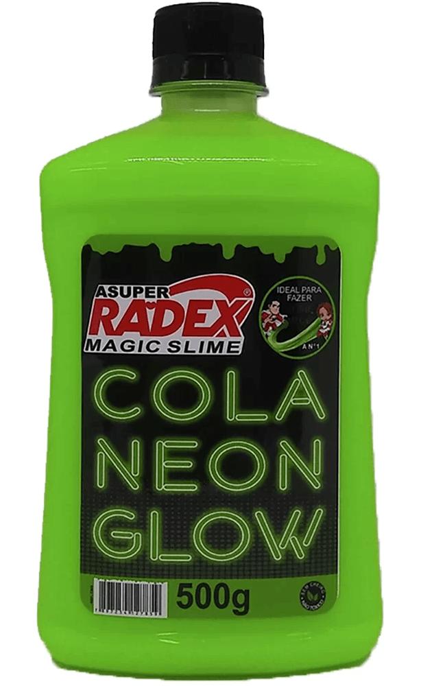 Cola para Slime 500g Glow neon verde 7305 Radex PT 1 UN